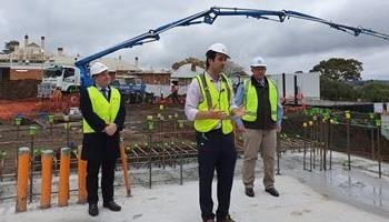 First concrete poured for Cancer centre