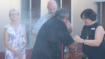 Smoking ceremony for new Surgical Unit